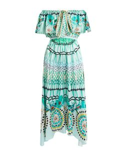 Temperley London | Dream Catcher Tie-Front Silk Dress