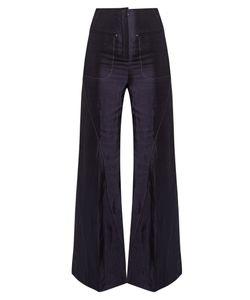 ESTEBAN CORTAZAR | High-Rise Fla Charmeuse Trousers
