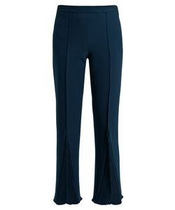 Marco De Vincenzo | Pleated Crepe Cropped Trousers