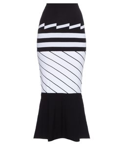 Preen By Thornton Bregazzi   Nev Intarsia-Knit Midi Skirt