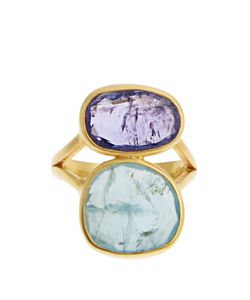 PIPPA SMALL | Amethyst Aquamarine Ring