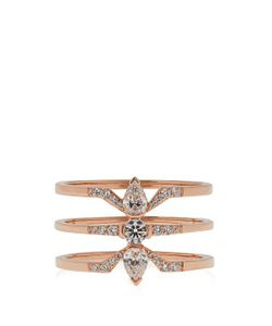 RAPHAELE CANOT   Deco Rocks Diamond Rose-Gold Ring