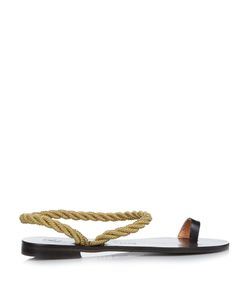 ÁLVARO | Angela Rope And Leather Sandals