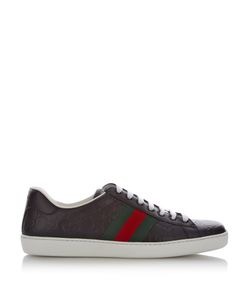 Gucci | Gg Debossed Low-Top Leather Trainers