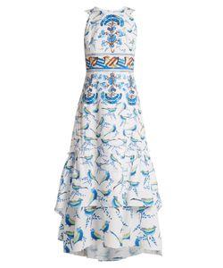 Peter Pilotto | Sleeveless Bird-Print Stretch-Cotton Midi Dress