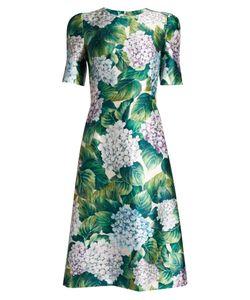 Dolce & Gabbana | Ortensia-Print A-Line Shantung Dress