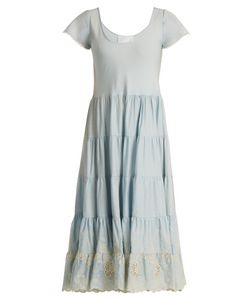 Athena Procopiou | Gypset Embroidered Gathered Cotton Dress
