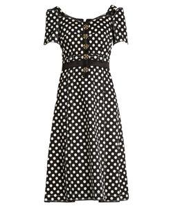 Dolce & Gabbana | Polka-Dot Fitted Cady Dress