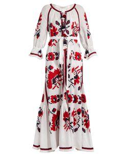 Vita Kin   Poppy Embroidered Linen Dress