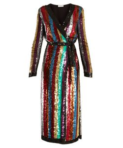 ATTICO | Grace Sequin-Embellished Wrap Dress