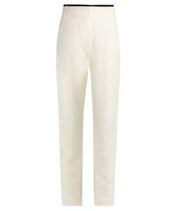 Haider Ackermann | Nessos Satin-Trimmed Silk-Jacquard Trousers