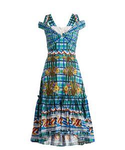 Peter Pilotto | Contrast-Print Cotton-Poplin Midi Dress