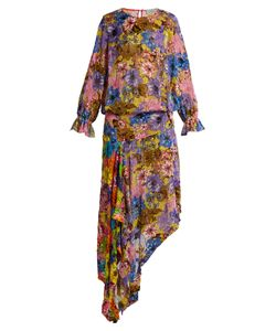 Preen By Thornton Bregazzi | Clara Print Velvet-Devoré Dress