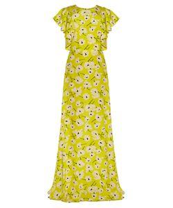 Rochas | Magnolia-Print Crepe De Chine Gown