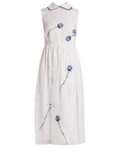 Jupe By Jackie | Vote Love Rose-Embroidered Cotton Dress