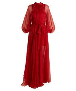 Maria Lucia Hohan | Adeola Tie-Waist Silk-Mousseline Gown