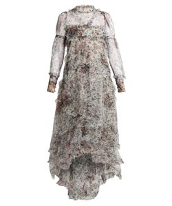 Erdem | Stacey Hurst Rose-Print Tiered Tulle Gown