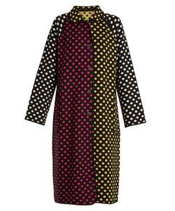 Duro Olowu | Reversible Polka-Dot Intarsia-Knit Wool Coat