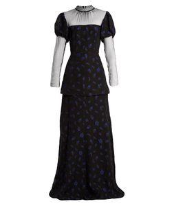 Emilia Wickstead | Clemmie Tulle-Panel Cloqué Gown