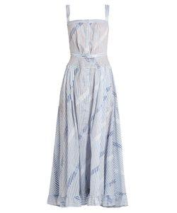 Thierry Colson | Rosanna Striped Cotton-Voile Dress