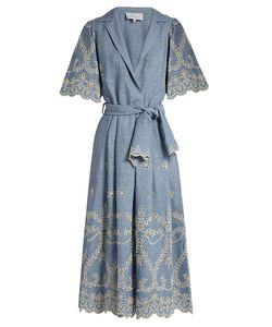 Luisa Beccaria | Broderie-Anglaise Linen-Blend Dress