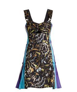 Peter Pilotto | Contrast-Panel Embroidered-Jacquard Mini Dress