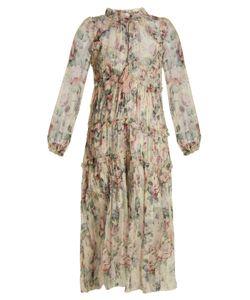 Zimmermann   Jasper Print Silk-Chiffon Dress