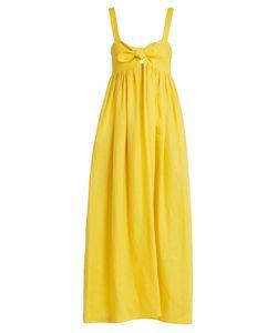 Mara Hoffman | Tie-Front Midi Linen Dress