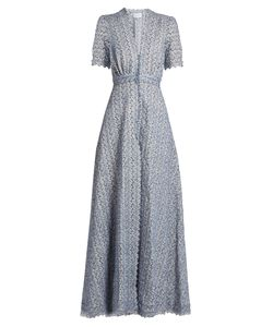 Luisa Beccaria | -Embroidered Cotton-Blend Dress