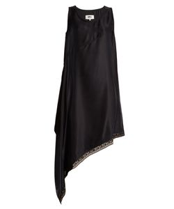 MM6 by Maison Margiela | Asymmetric-Hem Sandwashed-Satin Dress