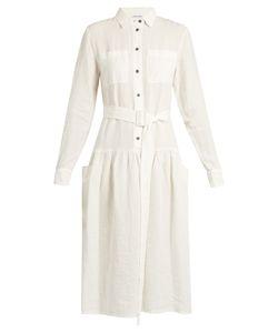 Tomas Maier   Dropped-Waist Linen Dress