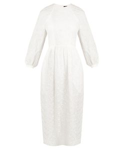 Simone Rocha | Broderie-Anglaise Draped-Back Dress
