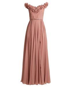 Elie Saab | Ruffle-Trimmed Silk-Georgette Gown