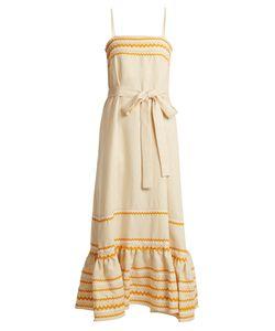Lisa Marie Fernandez | Ric-Rac Trimmed Linen Slip Dress