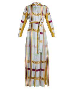 Diane Von Furstenberg | Tie-Waist Silk-Twill Maxi Shirtdress