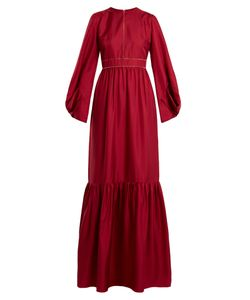 ROKSANDA   Elvira Gathered-Hem Silk Satin-Twill Gown