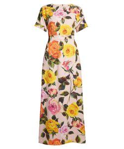 Dolce & Gabbana | Rose-Print Cady Maxi Dress