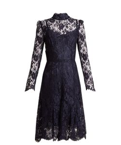 Dolce & Gabbana | Long-Sleeved Cordonetto-Lace Dress