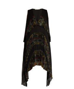Marco De Vincenzo | V-Neckpanelled Pleated Dress