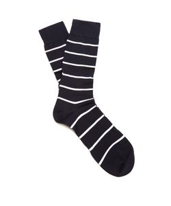 PANTHERELLA | Blavet Striped Cotton-Blend Socks