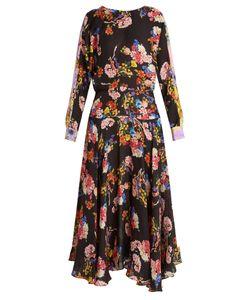 Preen By Thornton Bregazzi | Imogen Print Hammered-Silk Dress