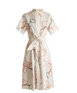 Diane Von Furstenberg | Albion-Print Cotton-Blend Poplin Dress