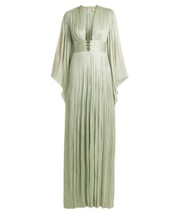 Maria Lucia Hohan | Charlize Kimono-Sleeve Pleated Tulle Gown