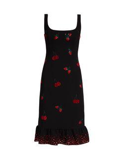 Altuzarra | Fria Cherry-Embellished Ruffled-Hem Dress