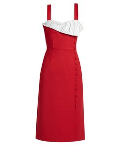Gabriela Hearst   Isobel Rouleau-Button Wool-Blend Dress