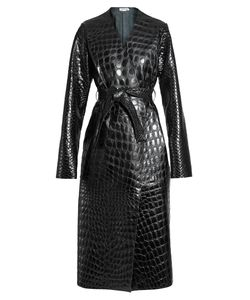 ATTICO | Marla Collarless Crocodile-Effect Leather Coat
