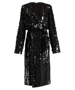 ATTICO | Dara Sequin-Embellished Wrap Dress