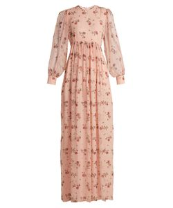 Emilia Wickstead | Pia Rose-Print Silk-Chiffon Dress