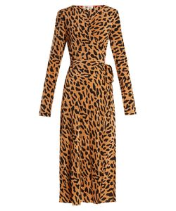 Diane Von Furstenberg | Leopard-Print Silk Wrap Dress