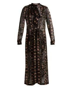 Preen By Thornton Bregazzi | Abram Print Satin-Devoré Midi Dress
